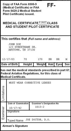 AvScholars.com - Step 1: Medical Certificates